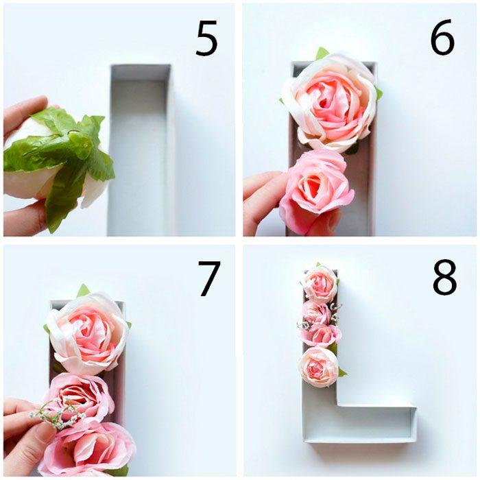 Объёмная буква из роз мастер-класс