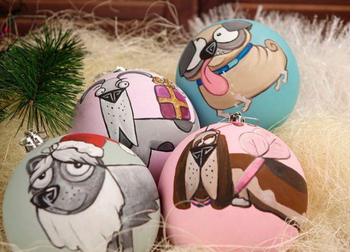 Креативная роспись ёлочных шаров