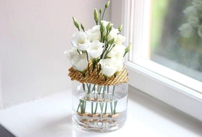 Оригинальная ваза из банки