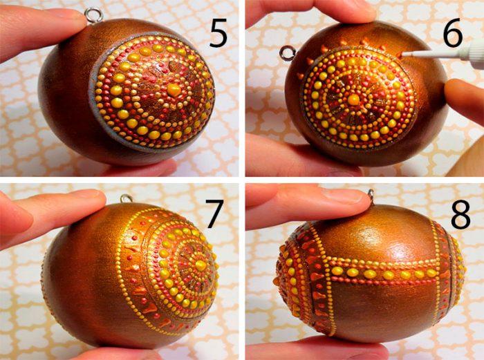 Точечная роспись ёлочного шара мастер-класс
