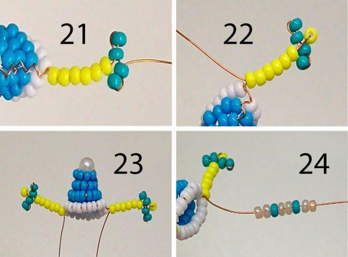 плетём снегурочку из бисера пошагово