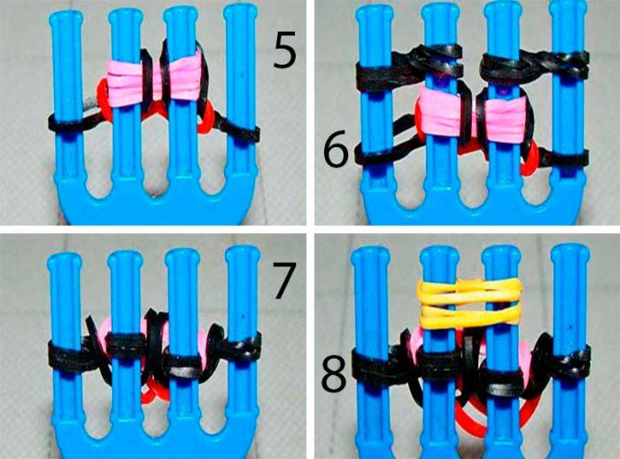 5-4-700x518 Как сделать браслеты из резинок на рогатке