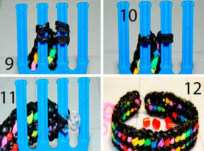 6-4-700x517 Как сделать браслеты из резинок на рогатке