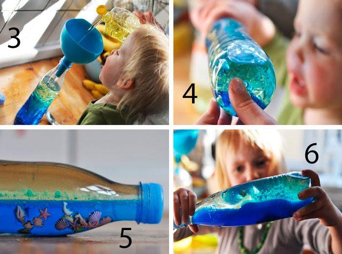 Подводный мир в бутылке мастер-класс
