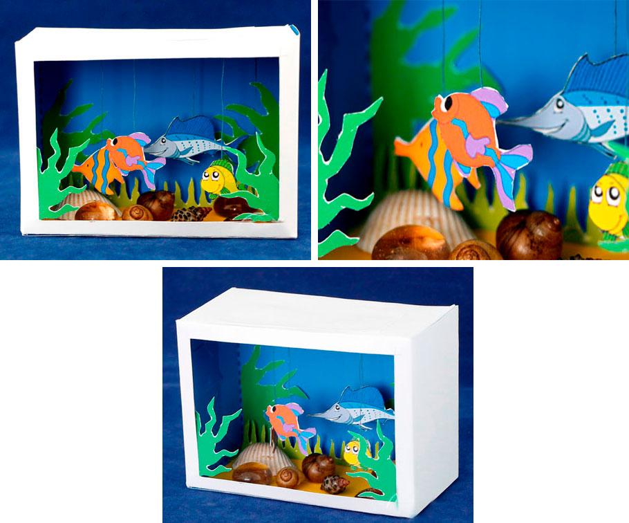 Поделка аквариум бумага в картинках лишние