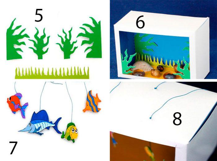 Аквариум с рыбками мастер-класс