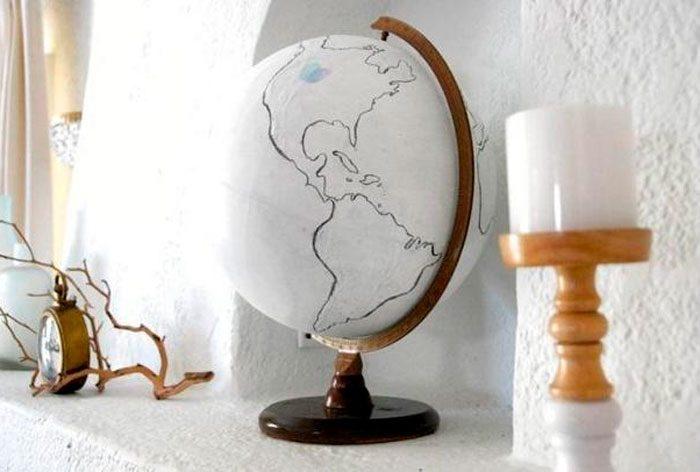Глобус в винтажном стиле