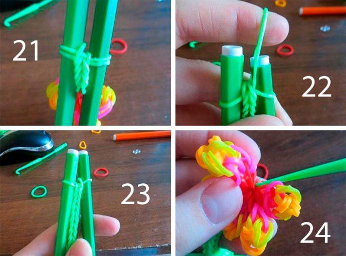 схема плетения цветка