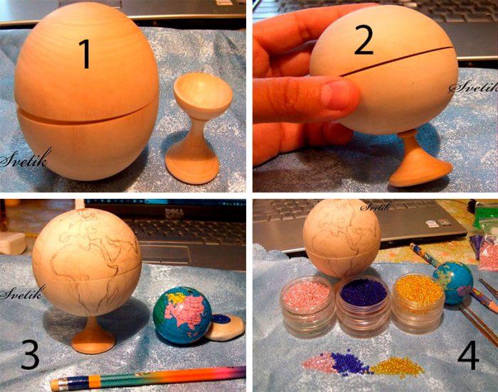 делаем глобус из бисера