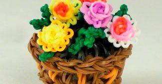 Цветы из резинок своими руками
