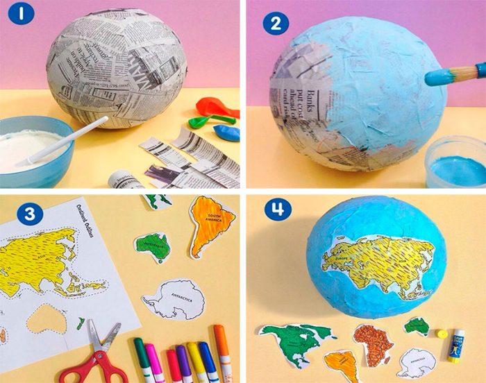 делаем детский глобус