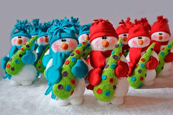 Махровые снеговики