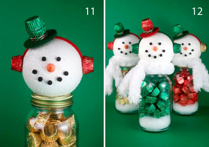 делаем сладкого снеговика