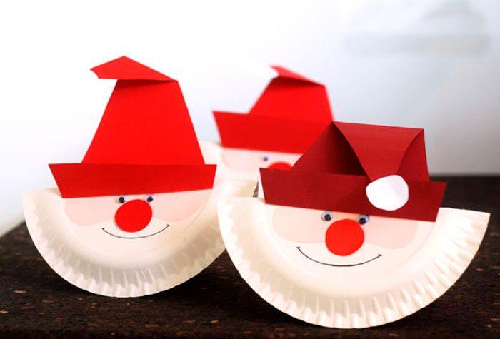 Санта из тарелки