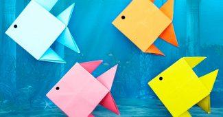 Рыбка оригами пошагово