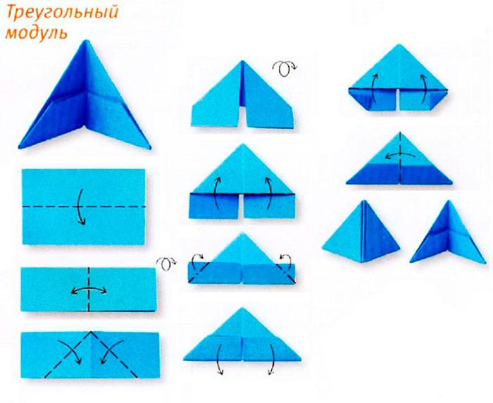 схема модуля оригами