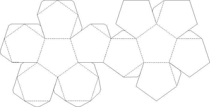 шаблон бумажного шара