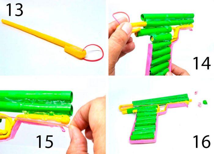 стреляющий пистолет пошагово