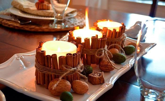 Композиция ароматных свечей
