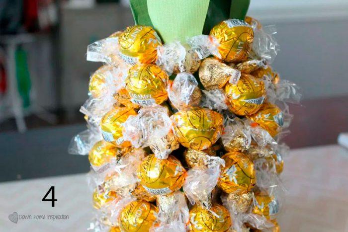 конфетный ананас пошагово