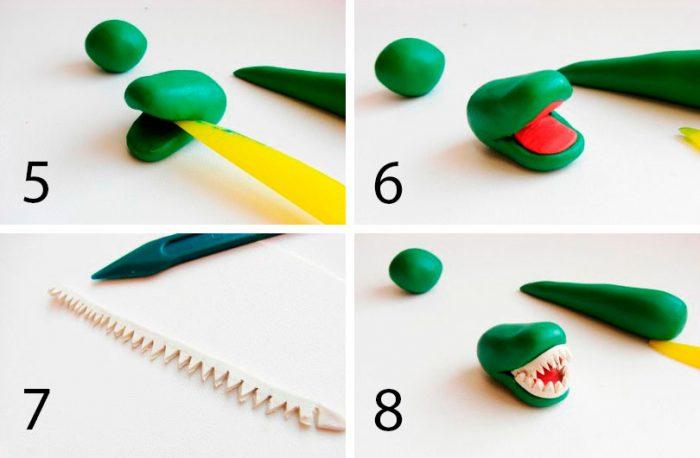 Крокодил из пластилина мастер-класс