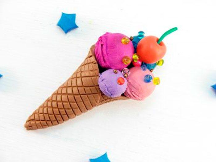 Мороженное из пластилина