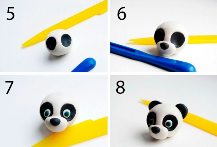 панда из пластилина мастер-класс