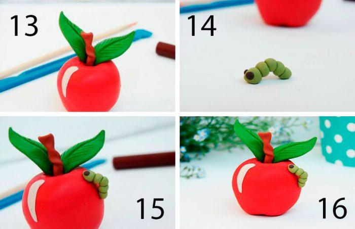 фрукты из пластилина для детей