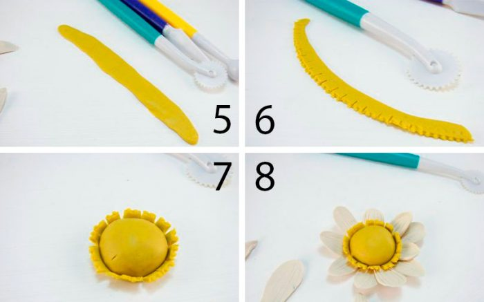 цветок из пластилина мастер-класс