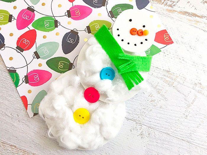 Снеговик из ваты мастер-класс