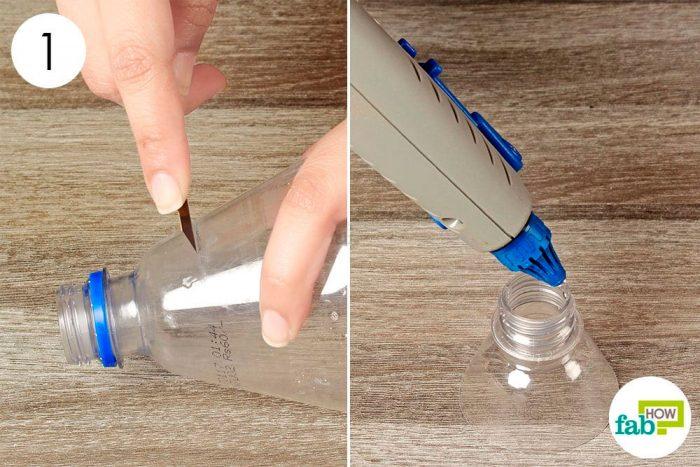 Подсвечник из пластиковой бутылки пошагово