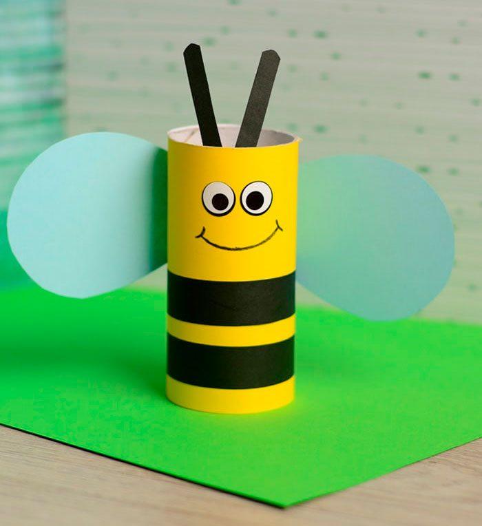 Пчёлка из втулки