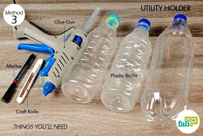 Держатель кистей из пластиковых бутылок