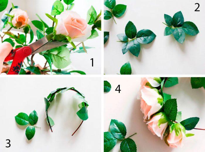 Ободок из живых роз пошаговый мастер-класс