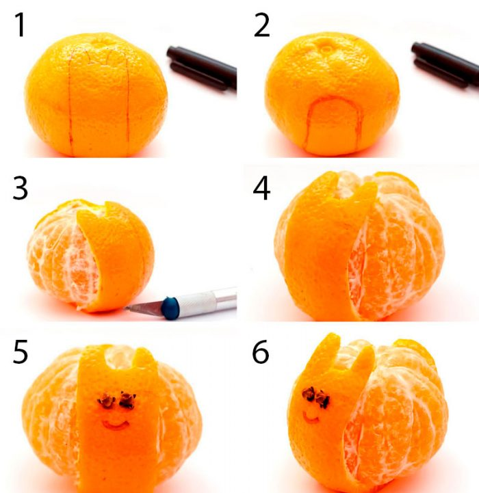 Улитка из мандарина мастер-класс