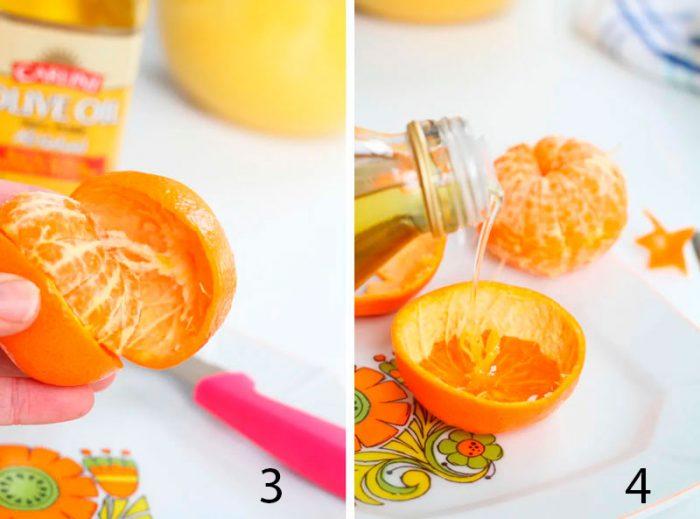 свеча из мандарина пошагово