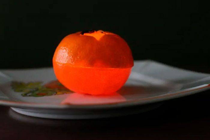 свеча из мандарина мастер-класс