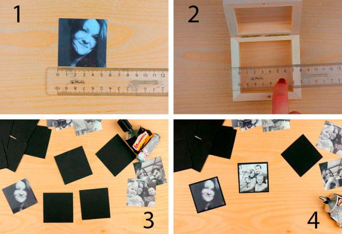 Коробочка с фотографиями пошагово