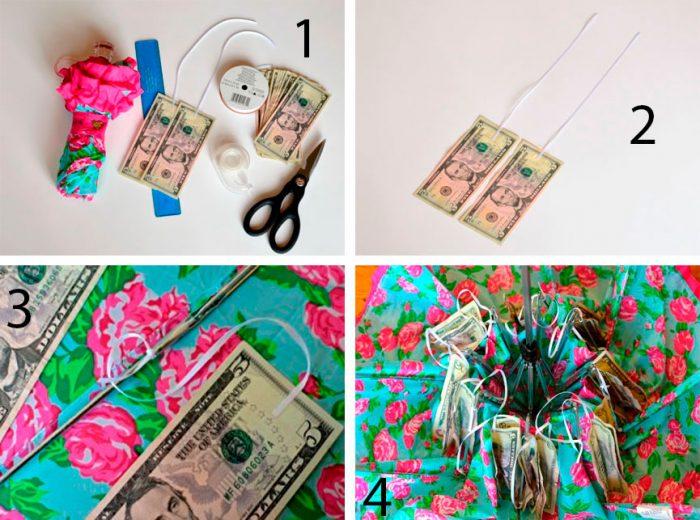 Зонтик с деньгами пошаговый мастер-класс