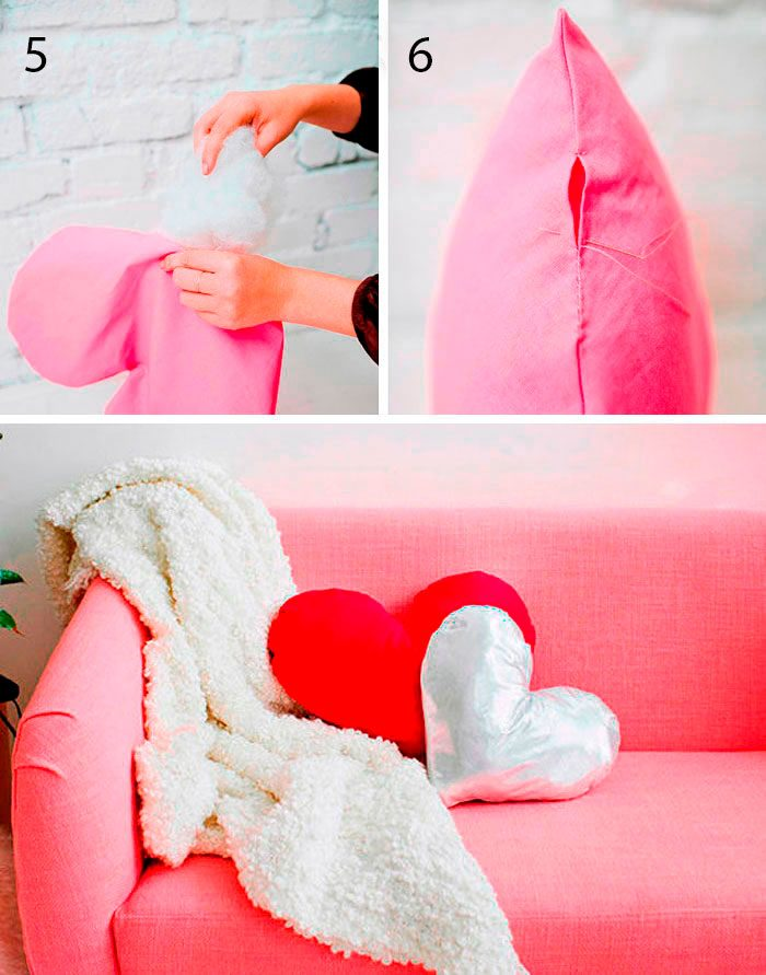 подушка валентинка мастер-класс