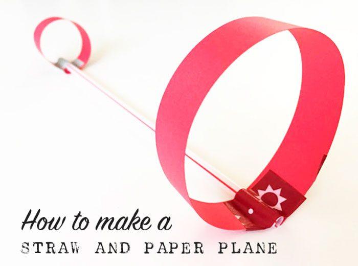 самолёт из трубочки и бумаги