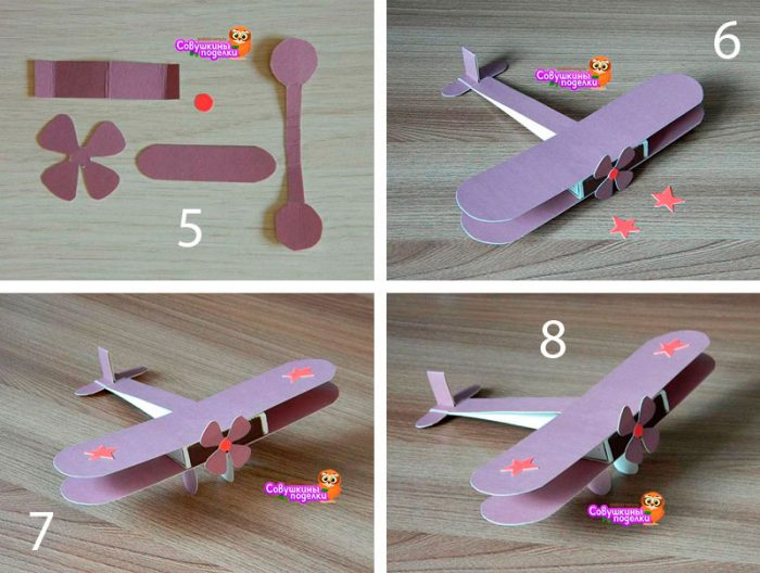 самолёт из картона и спичечного коробка мастер-класс