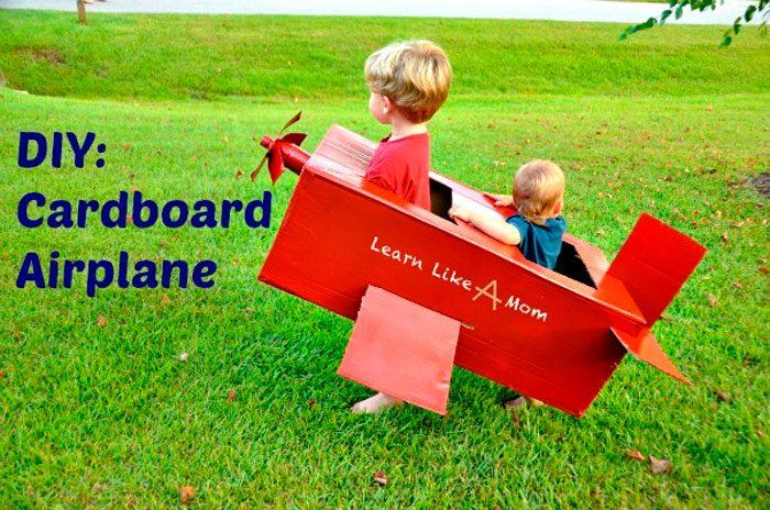 самолёт из коробки
