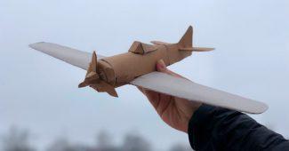 Самолёты из бумаги и картона своими руками