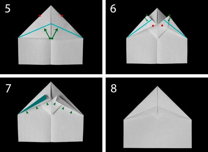 как сложить самолёт из листа бумаги