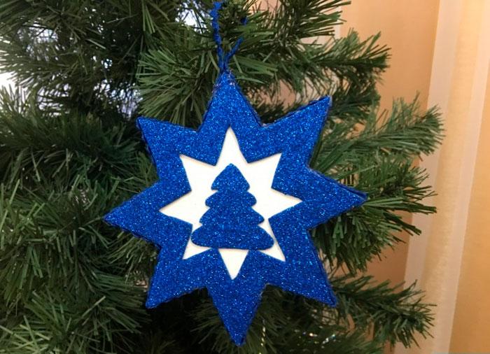 Звезда из фоамирана