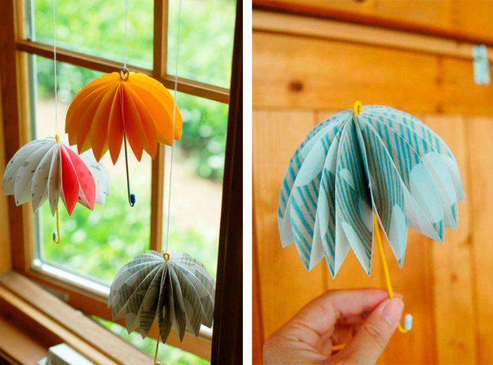 Объёмный зонтик из бумаги мастер-класс