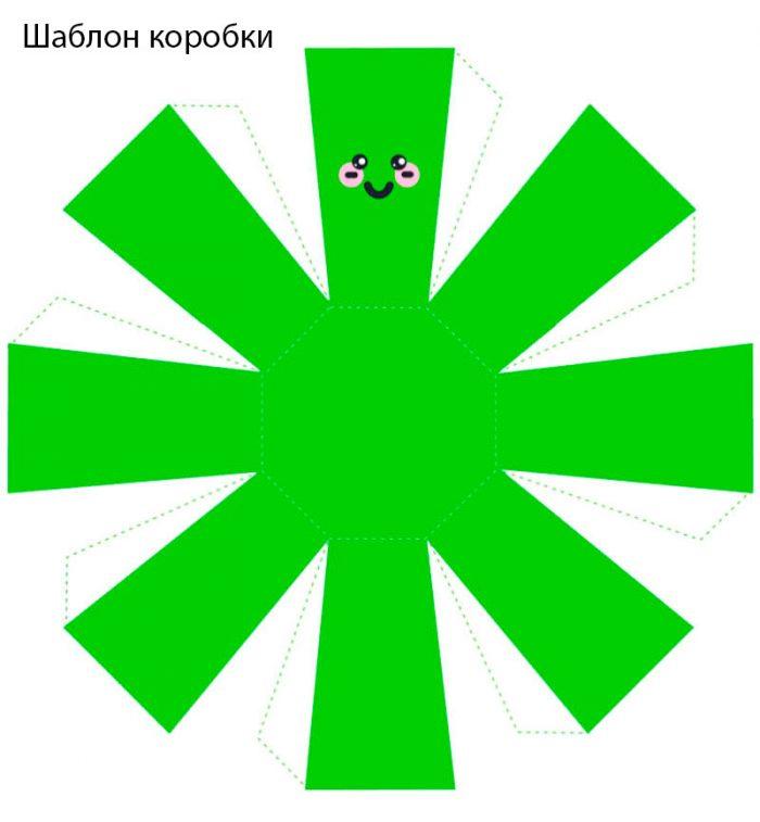 шаблон коробки жёлудя