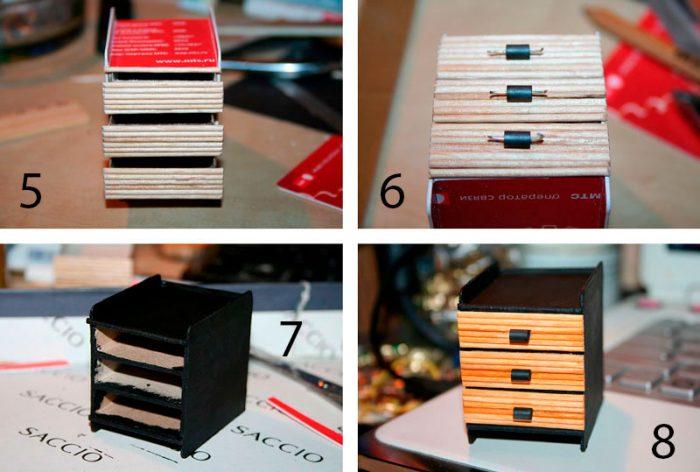 тумбочка из спичечных коробков мастер-класс