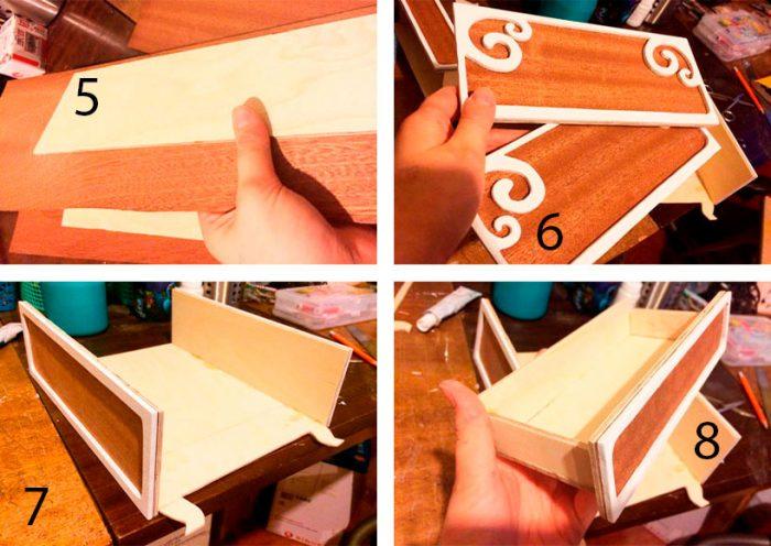 Кукольный шкаф из фанеры пошагово